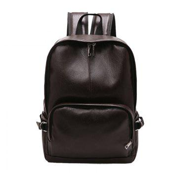 Simple Casual Fashion PU Leather Backpack Schoolbag