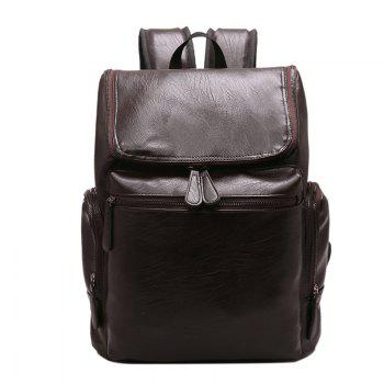 Fashion Simple Solid Color PU Leather Backpack