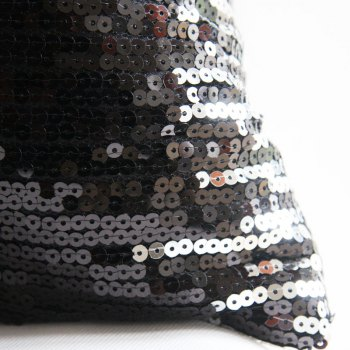 Lmdec 17HYZT03 Black Silver Sequins Pillowcase -  BLACK / SILVER