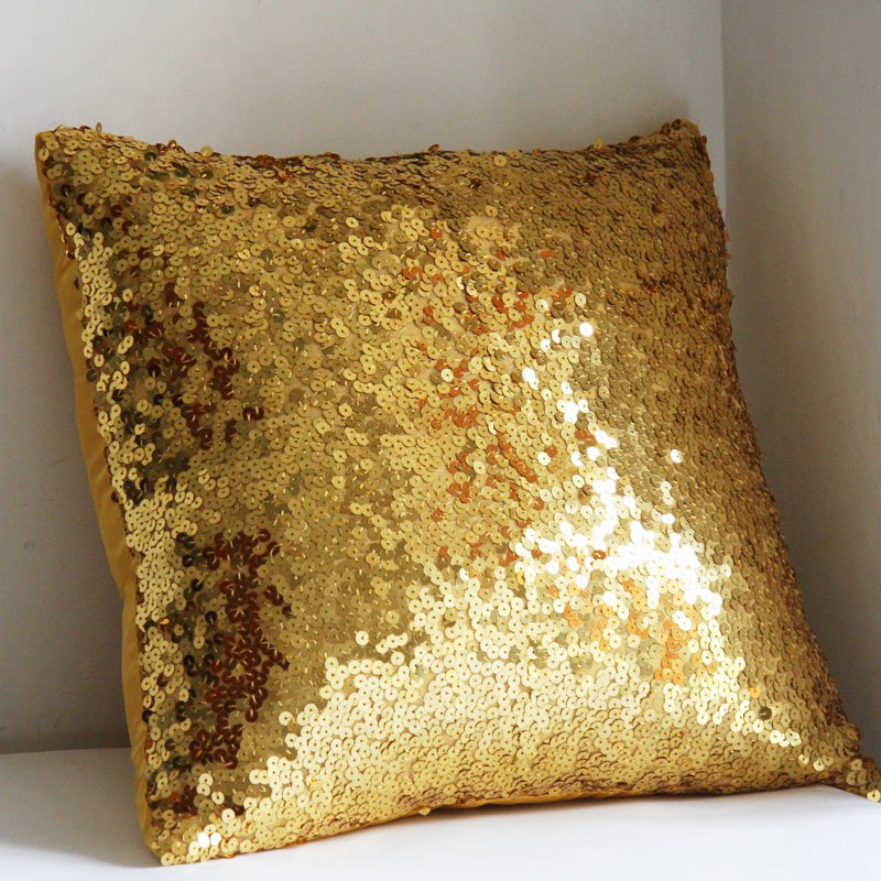 Lmdec 17YLP02 Sequins Pillowcase - GOLDEN