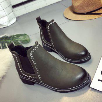 New Autumn and Winter Flat Head Round Color Wrist Boots - IVY 40