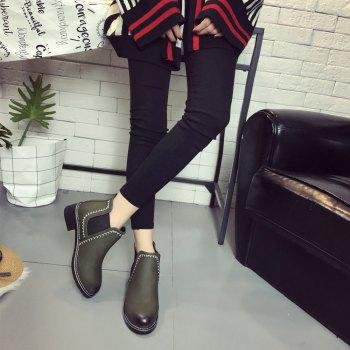 New Autumn and Winter Flat Head Round Color Wrist Boots - IVY 35
