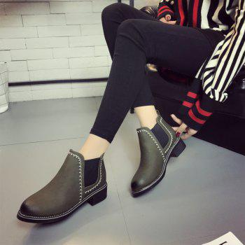 New Autumn and Winter Flat Head Round Color Wrist Boots - IVY 36