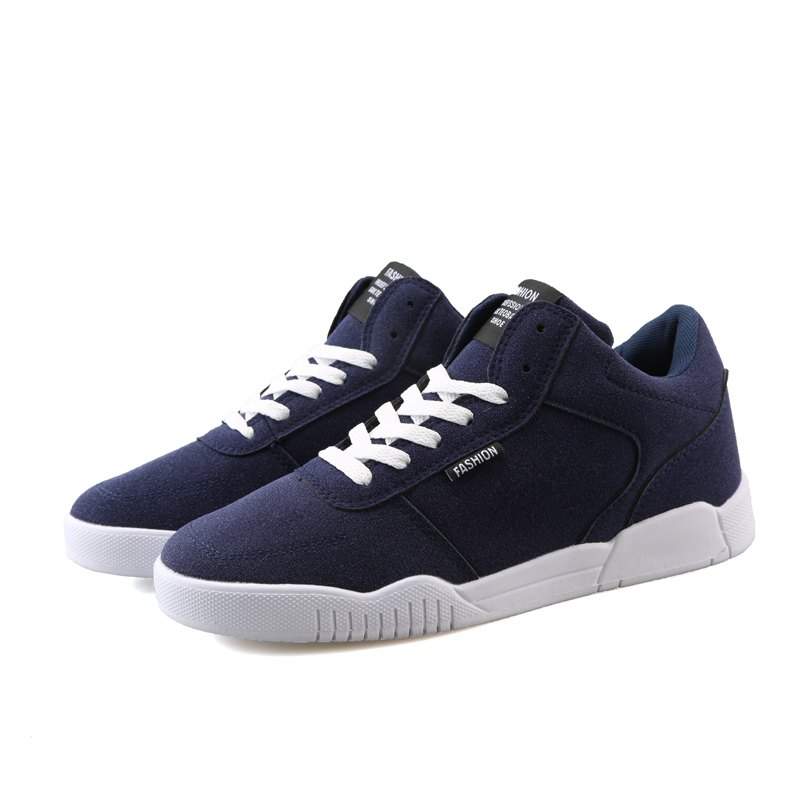 Men Casual Fashion Outdoor Lace Up Suede Warm Winter Shoes - BLUE 40