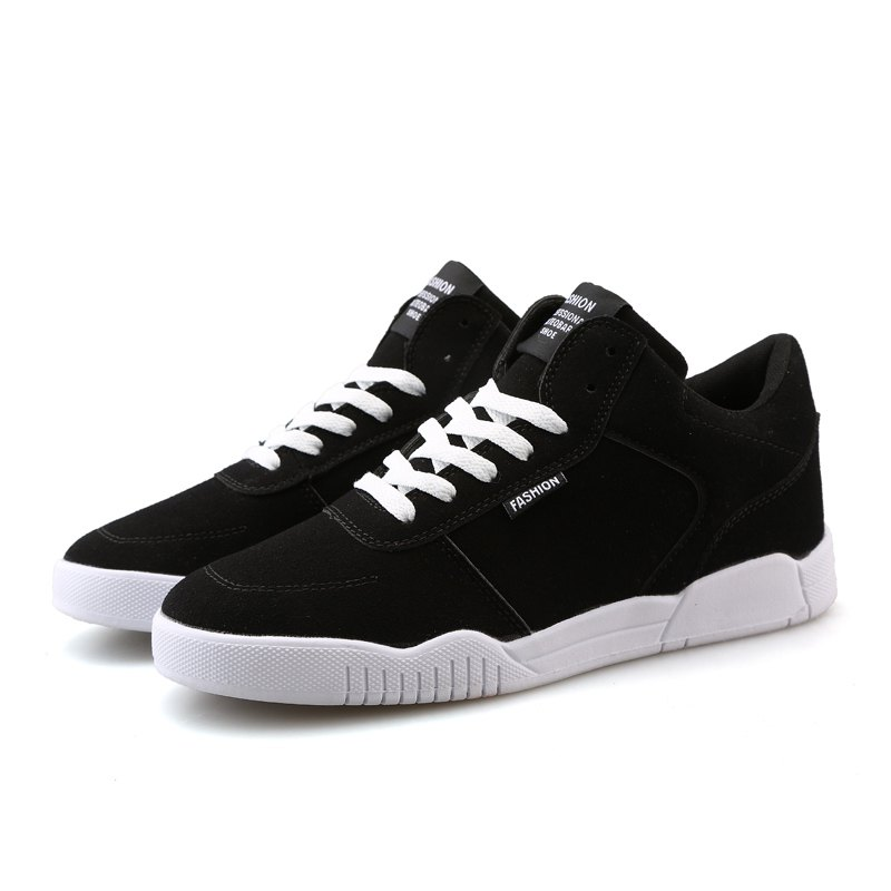 Men Casual Fashion Outdoor Lace Up Suede Warm Winter Shoes - BLACK 40