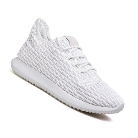Men Casual Fashion Outdoor Breathable Light Running Shoes - WHITE 43