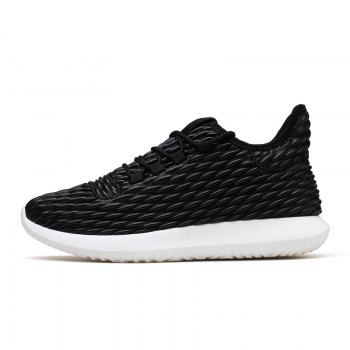 Men Casual Fashion Outdoor Breathable Light Running Shoes - BLACK WHITE BLACK WHITE