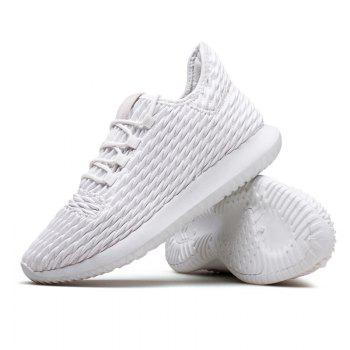 Men Casual Fashion Outdoor Breathable Light Running Shoes - WHITE WHITE