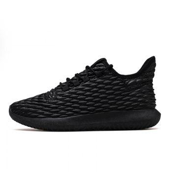 Men Casual Fashion Outdoor Breathable Light Running Shoes - BLACK BLACK