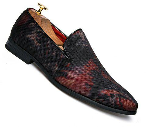 Men Casual Fashion Outdoor Loafers Slip on Shoes - RED 38