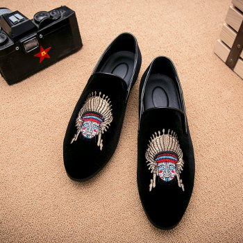 Men Casual Fashion Outdoor Loafers Slip on Face Shoes - BLACK BLACK
