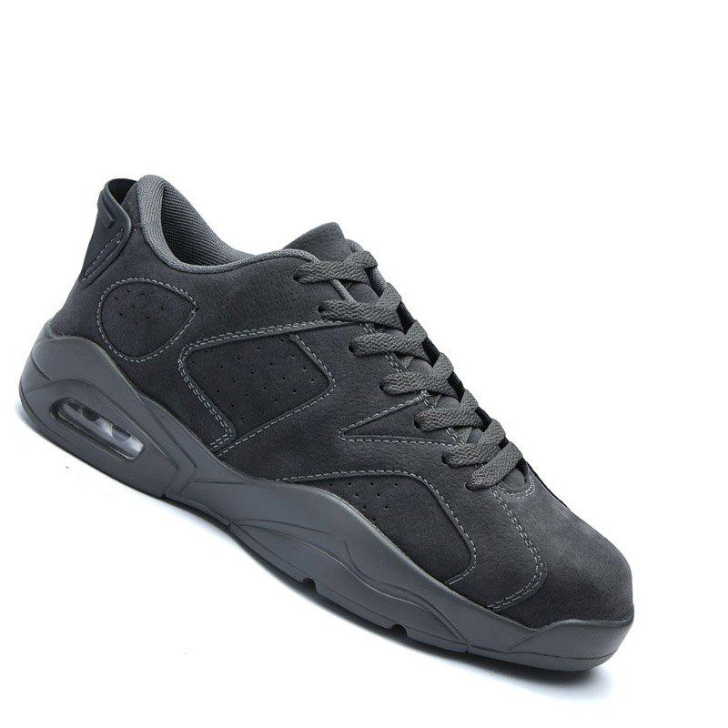 Couple Men Athletic Travel Male Running Anti-Slip Outdoor Sneakers Sports - DEEP GRAY 37
