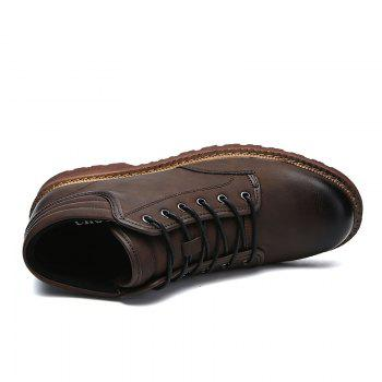 Men Business Shoes Male Anti-Slip Outdoor Hiking Fashion Travel Sports - BROWN BROWN