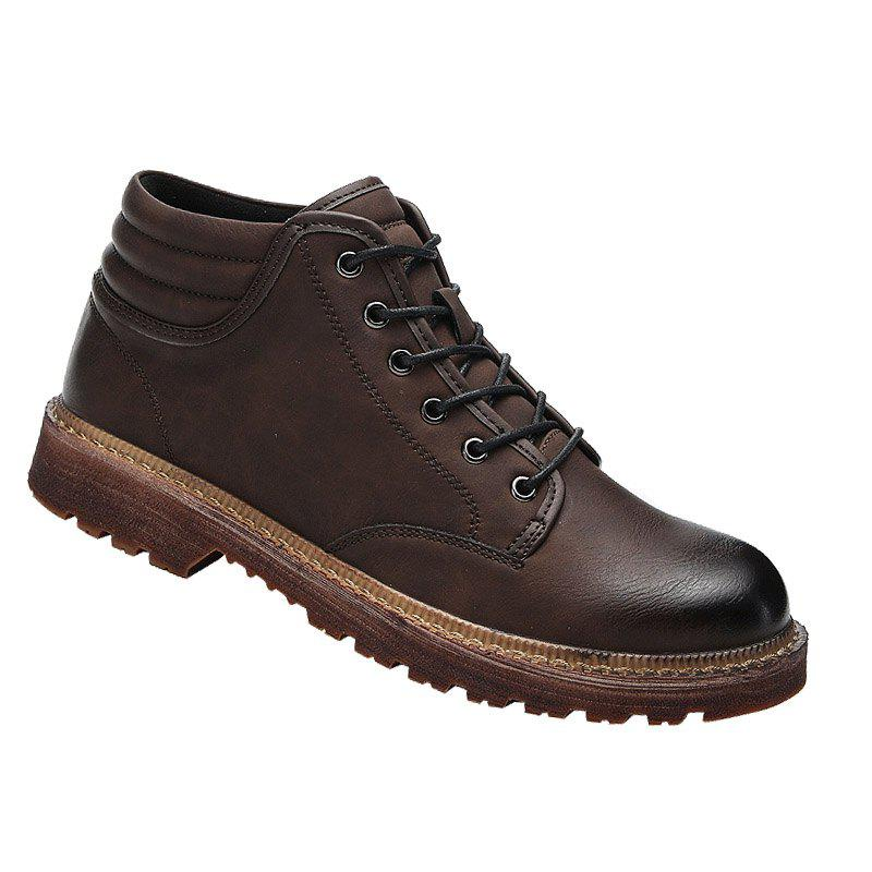 Men Business Shoes Male Anti-Slip Outdoor Hiking Fashion Travel Sports - BROWN 40