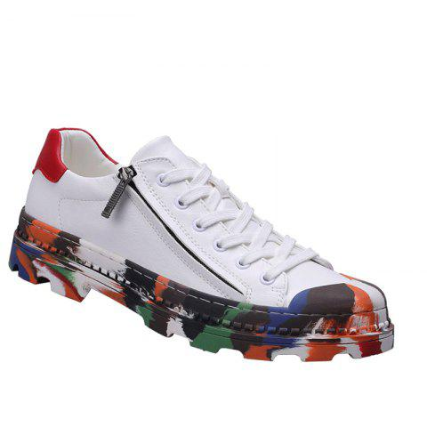 Men Colorful Rubber Sneakers Male Anti-Slip Outdoor Fashion Sports - WHITE 40