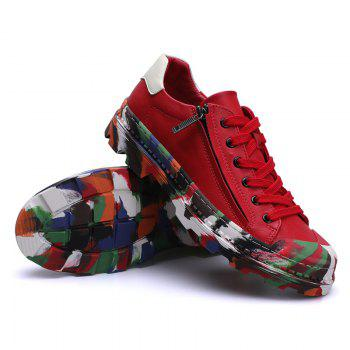 Men Colorful Rubber Sneakers Male Anti-Slip Outdoor Fashion Sports - RED RED