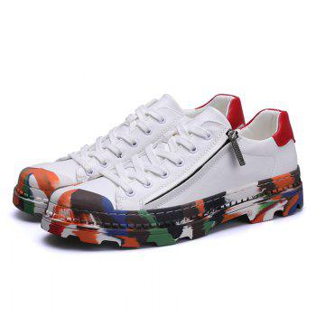 Men Colorful Rubber Sneakers Male Anti-Slip Outdoor Fashion Sports - WHITE WHITE