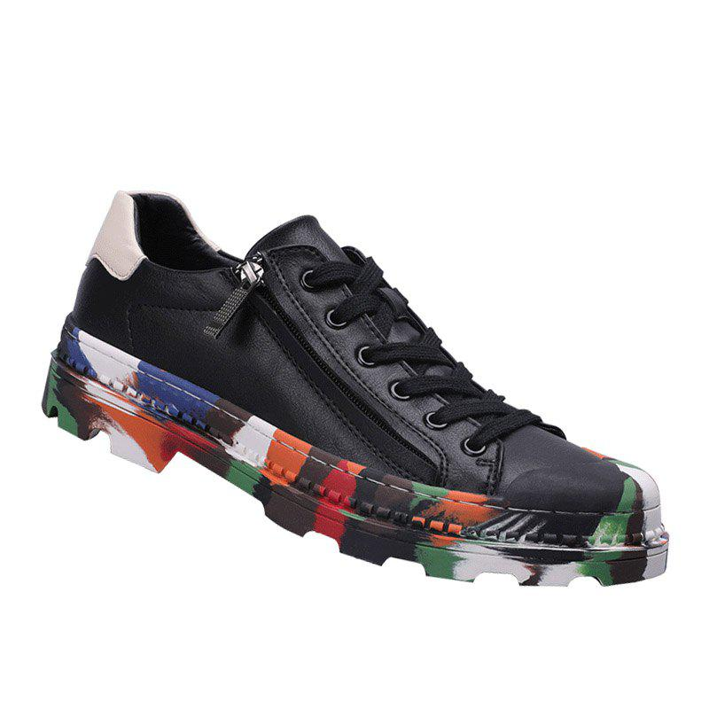 Men Colorful Rubber Sneakers Male Anti-Slip Outdoor Fashion Sports - BLACK 40