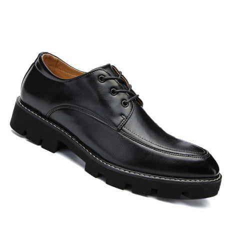 Fashion High Quality Oxford Sneakers Business Men British Wedding Shoes - BLACK 40