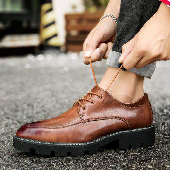 Fashion High Quality Oxford Sneakers Business Men British Wedding Shoes - BROWN BROWN