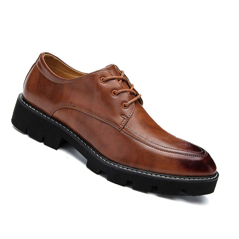 Fashion High Quality Oxford Sneakers Business Men British Wedding Shoes - BROWN 40