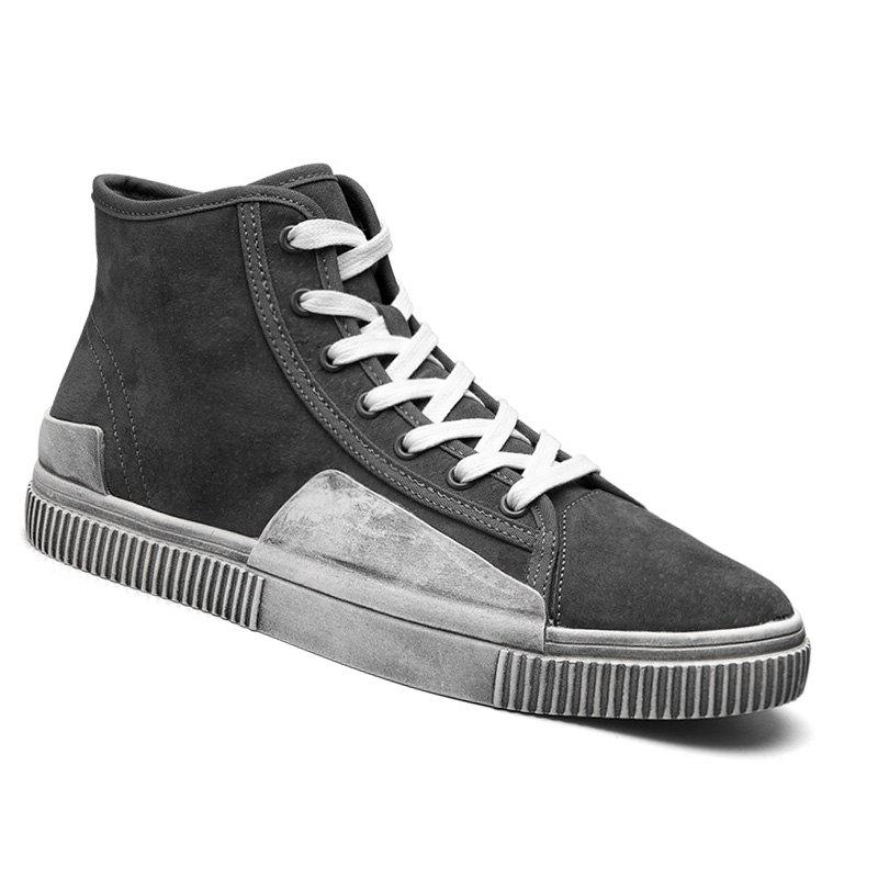 High-Top Rubber Shoes Male Ankle Boots Anti-Slip Outdoor Breathable Sneakers Sports - GRAY 41