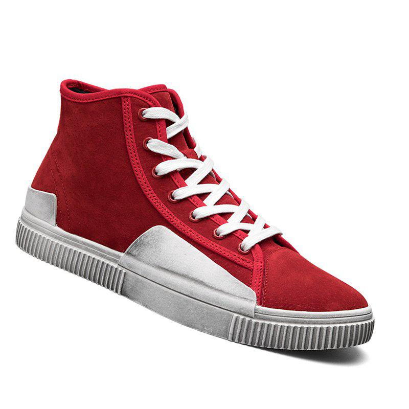High-Top Rubber Shoes Male Ankle Boots Anti-Slip Outdoor Breathable Sneakers Sports - RED 40