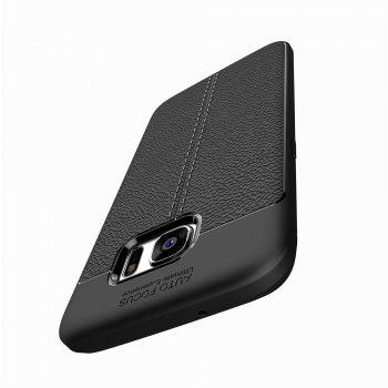 Case for Samsung Galaxy S7 Edge Shockproof Back Cover Solid Color Soft TPU -  BLACK