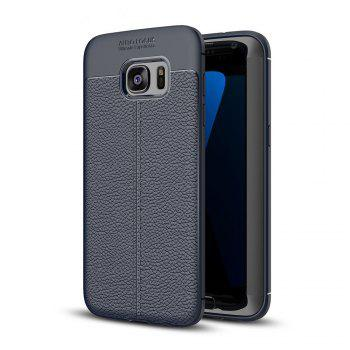 Case for Samsung Galaxy S7 Edge Shockproof Back Cover Solid Color Soft TPU - DEEP BLUE DEEP BLUE