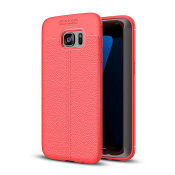 Case for Samsung Galaxy S7 Edge Shockproof Back Cover Solid Color Soft TPU - RED RED