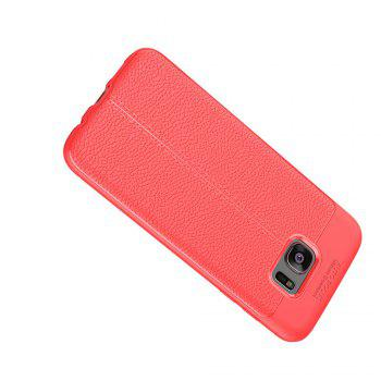 Case for Samsung Galaxy S7 Edge Shockproof Back Cover Solid Color Soft TPU - RED