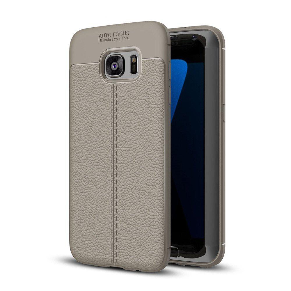 Case for Samsung Galaxy S7 Edge Shockproof Back Cover Solid Color Soft TPU - GRAY