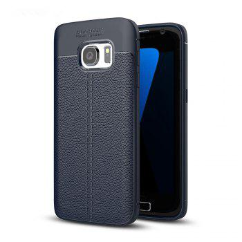 Case for Samsung Galaxy S7 Shockproof Back Cover Solid Color Soft TPU - DEEP BLUE DEEP BLUE