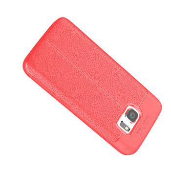 Case for Samsung Galaxy S7 Shockproof Back Cover Solid Color Soft TPU - RED