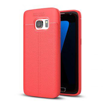 Case for Samsung Galaxy S7 Shockproof Back Cover Solid Color Soft TPU - RED RED