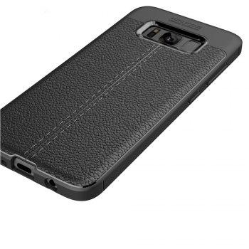 Case for Samsung Galaxy S8 Shockproof Back Cover Solid Color Soft TPU -  BLACK