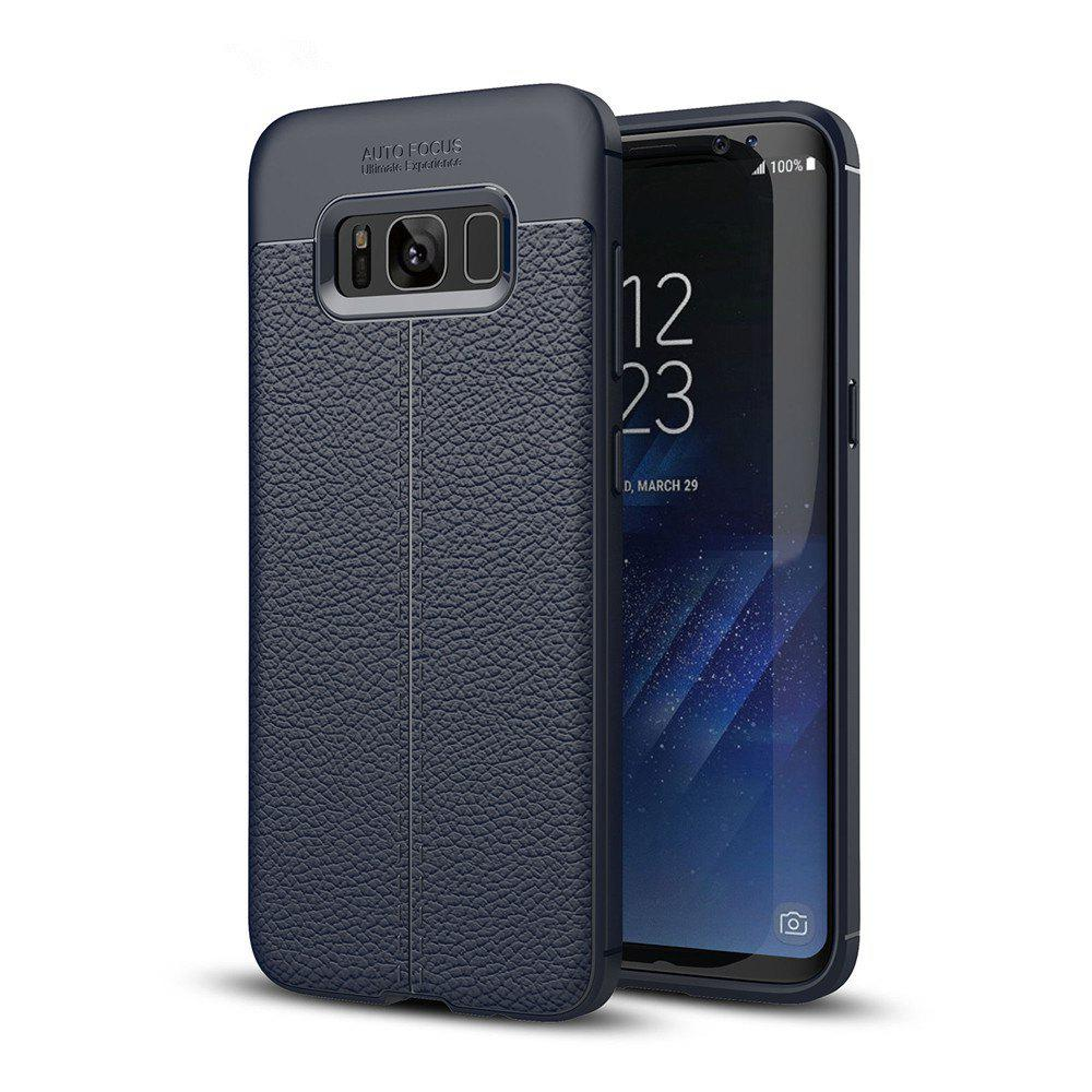 Case for Samsung Galaxy S8 Shockproof Back Cover Solid Color Soft TPU - DEEP BLUE