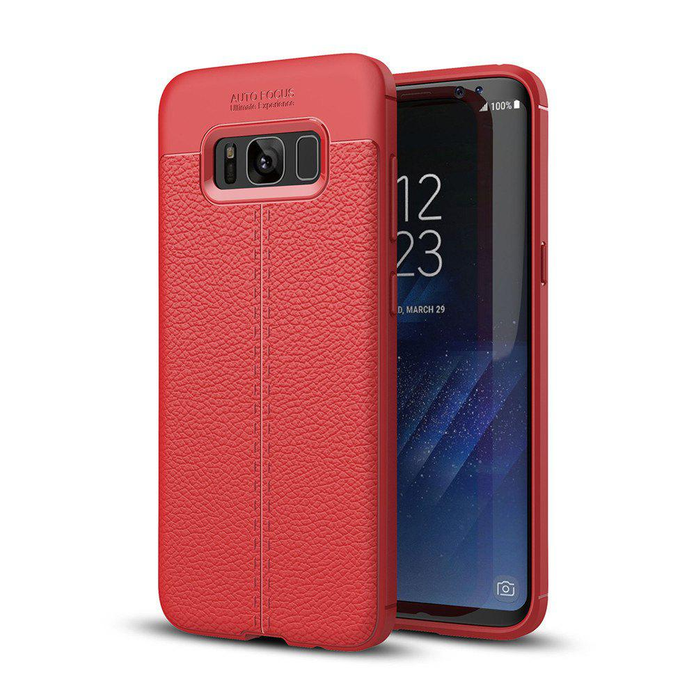 Case for Samsung Galaxy S8 Shockproof Back Cover Solid Color Soft TPU - RED