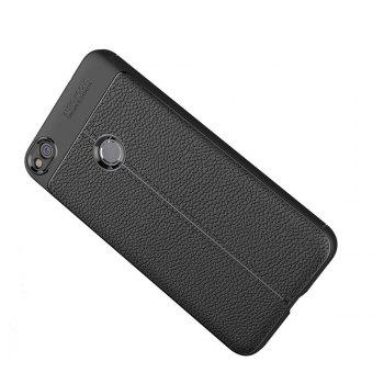 Case for Huawei Honor 8 Lite Shockproof Back Cover Solid Color Soft TPU - BLACK