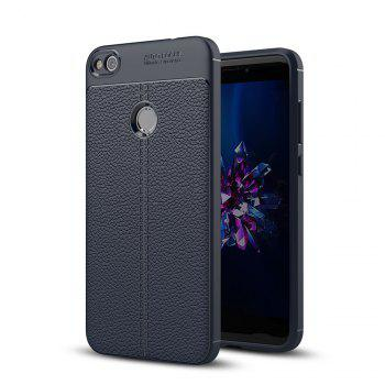 Case for Huawei Honor 8 Lite Shockproof Back Cover Solid Color Soft TPU - DEEP BLUE DEEP BLUE