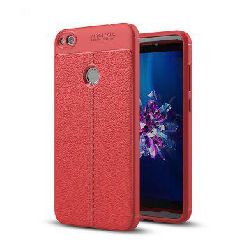 Case for Huawei Honor 8 Lite Shockproof Back Cover Solid Color Soft TPU - RED RED