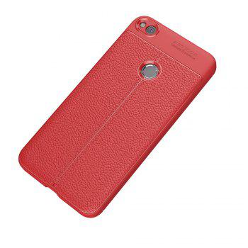Case for Huawei Honor 8 Lite Shockproof Back Cover Solid Color Soft TPU - RED