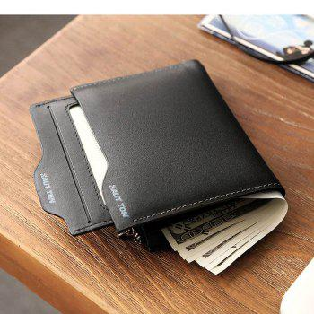 HAUT TON Genuine Leather Bifold and Trifold Wallets for Men Removable Flipout Card Holder - BLACK BLACK