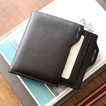 HAUT TON Genuine Leather Bifold and Trifold Wallets for Men Removable Flipout Card Holder - BLACK