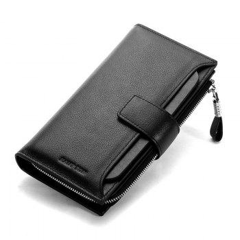 HAUT TON Men Genuine Leather Clutch Bag Handbag Organizer Checkbook Wallet Card Case