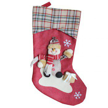 Christmas Stocking Gift Bag - COLORMIX SNOWMAN STYLE