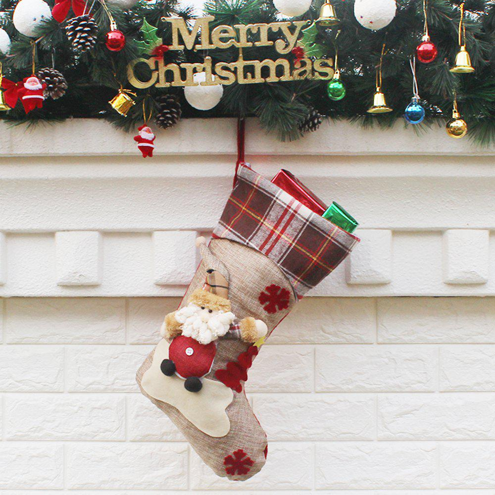 Christmas Stocking Gift Bag - COLORMIX SANTA CLAUS STYLE