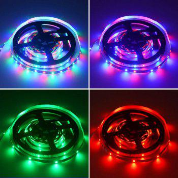 HML 5M 24W SMD2835 300 LEDs RGB Strip Light with IR 20 Keys Music Remote Controller and US DC Adapter 100 - 240V - RGB