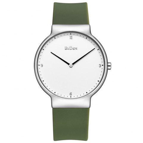 BIDEN 0056-2 4817 Fashion Outdoor Sports Silicone Band Men Watch with Box - GREEN