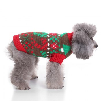 Lattice Pattern Dog Sweater Christmas Costumes - COLORMIX L
